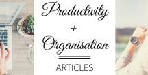 Articles - Productivity & Organisation / Life hacks, tips and tricks for productivity, organisation, working hard and getting the most out of your day.