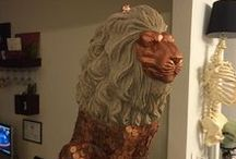 Lion Statue Auction Fundraiser / Lion Statues for Fundraising Action for our School.