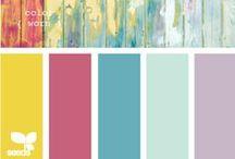 .❥ Colors / Cores / A escolha da paleta de cores é uma das partes mais importantes de um projeto de decoração, artesanato ou arte. Aqui temos combinações de cores e alguns exemplos para te ajudar nos seus projetos!