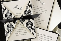 Black and White Themed Weddings / Black and White weddings can be striking as well as elegant and chic.  The wonderful thing about them is that you can introduce another color to add depth.
