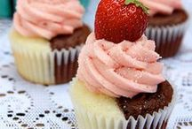 cupcakes /    A small cake baked in a cup-shaped container. / by shabby mama