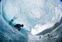 Surfing in the Islands of Tahiti