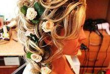 curl up & dye. / All about hair. #hair #braids #halfup #ponytail #longhair #straight #curls  / by Julia Hasenoehrl
