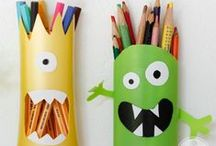 .❥ Cute Monsters / Monstrinhos / Monsters can be scary but some of them are very cute! See some cute monsters made of fabric, felt, tin can, repurposed materials, hand draw monsters… Monstros e monstrinhos fofos.