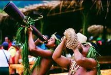 """Marquesas Islands / We're bringing you interesting facts about the Marquesas Islands in the Islands of Tahiti. About a three hour flight north from the Society Islands and the Tuamotu Atolls, the Marquesas, or Henua Enata, means """"Land of Men""""."""