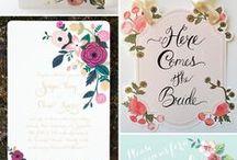 Wedding Invitations & Programs / All the paper goods of a wedding. Invitations, programs, menu, etc.
