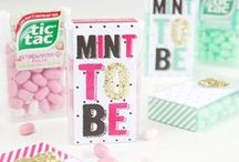Bridal Shower / Mint and Gold