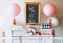 Bachelorette Party Decor / Bachelorette party decoration ideas for a hotel room, home, cozy event space etc.