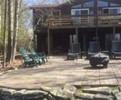 Bruno Lakefront Cabin / Rent this gorgeous property in Lake Wallenpaupack, PA by calling Cindy at 570-878-0399!