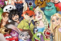 Disney - cartoons / Hey do you like tv try and guess all the names of these characters