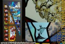 Stef Atelier Vitraux d'Art / Vous recherchez un vitrail sur mesure pour votre maison ou votre appartement, nous pouvons réaliser votre vitrail. Visitez notre site www.stefatelier.com et découvrez quelques réalisations de vitraux Vous voulez créer vos propres vitraux consultez les dates des stages de vitrail et apprenez aux côtés d'un maître verrier. stage vitrail mise en plomb d'un vitrail , stage d'émaillage sur verre Vous avez besoin de matériel et de matières premières