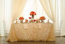 wedding reception & table settings