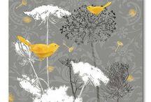 Yellow/Gray/Bird Bedroom