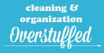Cleaning and Organization :: Overstuffed / Tips and ideas for keeping your house clean and organized. Organization and cleaning ideas for bathrooms, kitchens, living rooms, bedrooms, and every other room in your home! All ideas from my blog www.overstuffedlife.com