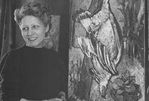 Yvonne Mottet / Présenter et faire connaitre l'ouvre de cet artiste (1906 Lyon - 1968 Saint Denis sur Loire). Femme de Bernard Lorjou