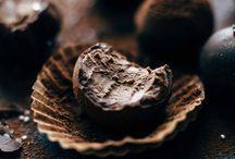 Truffles / Chocolate truffles, truffles, egg nog truffles, rum truffles