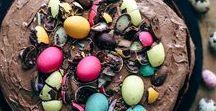 Easter Baking / easter baking, easter dessert, chocolate, chocolate eggs, marshmallow, marshmallow peeps