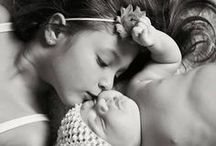 """Baby Photo Ideas With Siblings / Not only will these baby photo ideas with siblings make you say """"awwww"""" but show you creative ways to capture that special moment between your babies for ever."""