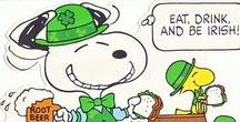 Peanuts + St. Patrick's Day / Vintage Peanuts and Snoopy finds for St. Patrick's Day. For more Snoopy, Charlie Brown and Peanuts goodness, visit us at CollectPeanuts.com and check out our other boards.