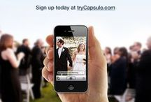 All About Capsule! / trycapsule.com: the easiest way to capture every photo taken at your wedding. CapsuleCam, the mobile app for iPhone and Android, lets guests add photos to a shared, central wedding album instantly with no uploading required. Capsule members can interact, comment, order prints, download high-resolution copies and share to social networks directly from the website.  / by Capsule
