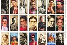 """Frida y Diego / I visited Coit Tower in San Francisco when I lived there and became a fan of Diego Rivera's art which was presented as wall frescos. After I saw the movie """"Frida"""" with Salma Hayak, I became enchanted with all things involving Frida and Diego. / by Eldridge Pearsall"""