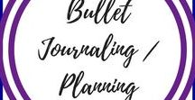 Bullet Journaling and Planning