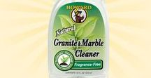 Granite & Marble Cleaner / Howard Granite & Marble Cleaner is a non-acidic, non-abrasive formula that is safer than chemical-based products for cleaning sealed granite, marble and other natural stone surfaces. Safe to use on granite, silestone, porcelain, quartz, limestone, engineered stone, corian, marble, and ceramic.