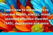 Courses in Colour Healing / The correct use of colour creates a healing and balancing vibrational energy that can improve health, energy and mood.