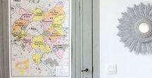 Carte le Grand Paris - Style carte d'école vintage / Une carte murale du Grand Paris dans le style des cartes d'école de notre enfance. Elle présente les frontières des 12 nouveaux territoires (actés en 2016), une sélection pointue des plus beaux sites touristiques (culture, plein air, sport) et les transports en communs qui vous y conduisent.  Une jolie façon de découvrir les contours de cette nouvelle métropole et ainsi vous donner envie de l'explorer !