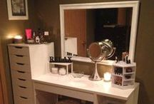 My Future Battlestation / Ideas and things I want for the makeup vanity I want to get for future primping.