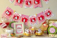 Baby shower hello kitty / Pink yellow and white hello kitty themed baby shower. / by Kellie Chanchay