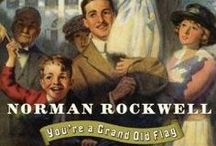 "Norman Rockwell at His BEST . . . and with a little help from  his friends / Norman Rockwell greatly admired J.C. Leyendecker.  Rockwell referred to him as ""the great J.C. Leyendecker."" Speaking about his idol in a December 7, 1997 article, Rockwell said, ""I began working for 'The Saturday Evening Post' in 1916 & Leyendecker was my god. I actually used to, unbeknownst to him, follow him down the streets of New Rochelle, just to be close to him.""   Soon Rockwell developed his own style - you must be careful choosing Rockwell at times making sure it is not Leyendecker  / by Granny Pat"