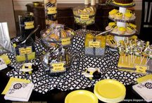 Baby shower -How tweet it is / Yellow, gray and white bird themed baby shower with small amount of black accents. I also like the chevron pattern a lot. / by Kellie Chanchay