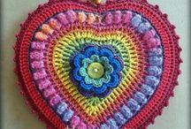 Crochet Crazy hearts