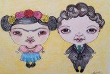 Frida Kahlo ♥ღ Diego Rivera / by Granny Pat