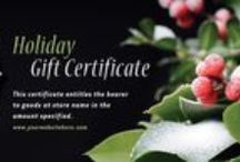 Gift Certificates / Graphic design inspiration for creating your own gift certificates, vouchers or gift cards.
