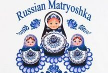 "Russian Dolls / ღКуклы - МАТРЁШКА - Why called ""Matryoshka""? The wooden toy was Matryoshka (or Matrioshka) there's no info who was the 1st to call the doll by this name. The name Matryoshka goes from Russian female name Matriona. The name Matriona or Matriosha = popular female name. Associated w/image of a mother of a big peasant family very healthy & portly figure. It became a symbolic name & was used on brightly painted wooden figurines made that they'd taken apart to reveal smaller dolls inside ea other. / by Granny Pat"
