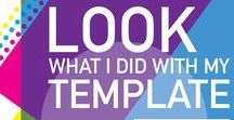 """2016 """"Look What I Did With My Template"""" Contest / Customer submissions and winners from our 2016 design contest!"""