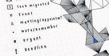 \\ Bullet journal // / Bullet Journal, BuJo, organisation, planner