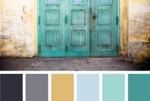 Color Palettes / Look how these pieces and colors go together, it's almost as if they were meant to be. There are so many ways to mix colors and patterns there is no way to think of them all, but this board will help you with some inspiration!