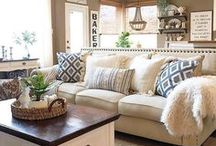 Lovely Living Rooms / This board is for inspiration for one of the best rooms in the house, the living room! This is where the family spends time together and you just relax and have fun! Here are some ideas to make your living room nice and cozy!
