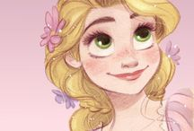 Rapunzel has lost of hair / Rapunzel is the princess that has most of the hair