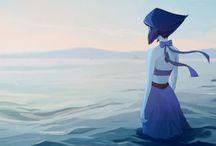 Lapis-Lazuli~ / Lapis Lazuli Blue character from Steven Universe