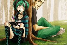 Gwuncan / Gwen x Duncan Blue and Green ship from the Total Drama Series