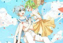 Nagikae / Nagisa Shiota x Kaede Kayano Blue and Green ship from Assassination Classroom