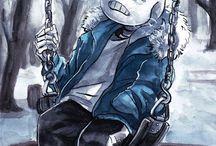 Sans~ / Sans Blue character from Undertale