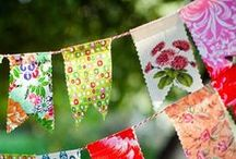 bunting + garlands. / banners, garlands, pennants, bunting, flags