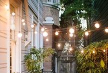twinkle + glow. / fairy lights, patio lighting, candles, twinkle lights, tiny lights,