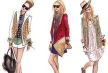 Fashion Illustrations / Fashion illustrations and croquis.