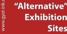 """Alternate"" Exhibition Sites Collection / Artwork that takes place outside the traditional white cube, alternatives to the marketplace and galleries/museums. Ideas for artists."